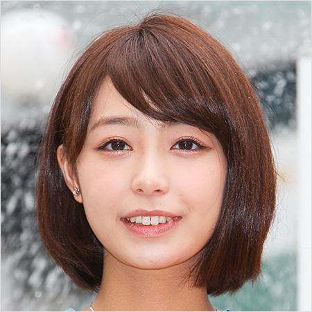 ブロンドヘアーの宇垣美里さん