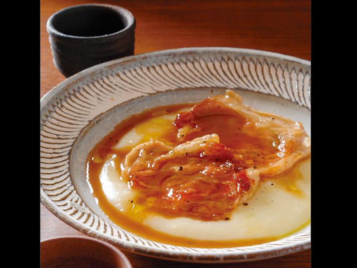 鶏むね肉のサルティンボッカ 日本酒風味×達磨正宗 五段仕込み 純米ひやおろし