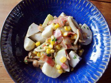 【ベジつまみ06話】里芋のコンソメ炒め|ちょっとのベーコンでもりもり芋が食べられる、という話