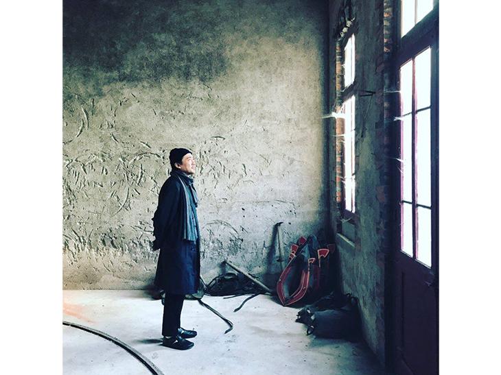 ロワールでのサロンを訪問後、立ち寄ったシルヴァン・マルティネズ氏のワイナリーにて