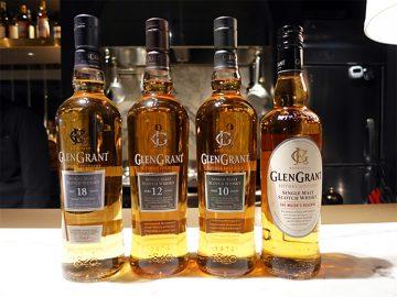 スコッチの代表的ブランド「グレングラント」のラインナップ。6月27日に数量限定でリリースされる「18年」は、リッチな香りと甘い余韻をぜひ試してほしい逸品。