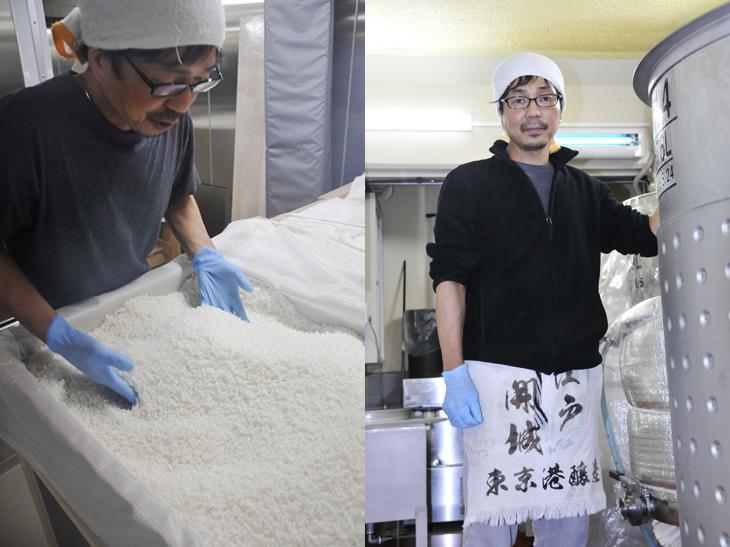 東京港醸造の杜氏を務める寺澤善実さん。日本酒だけでなく、リキュールやどぶろくなど、意欲的な酒を造り出している。