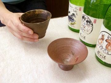 一目惚れした津軽金山焼のぐい呑みと千吉の面影の盃。【酒器も肴のうち】