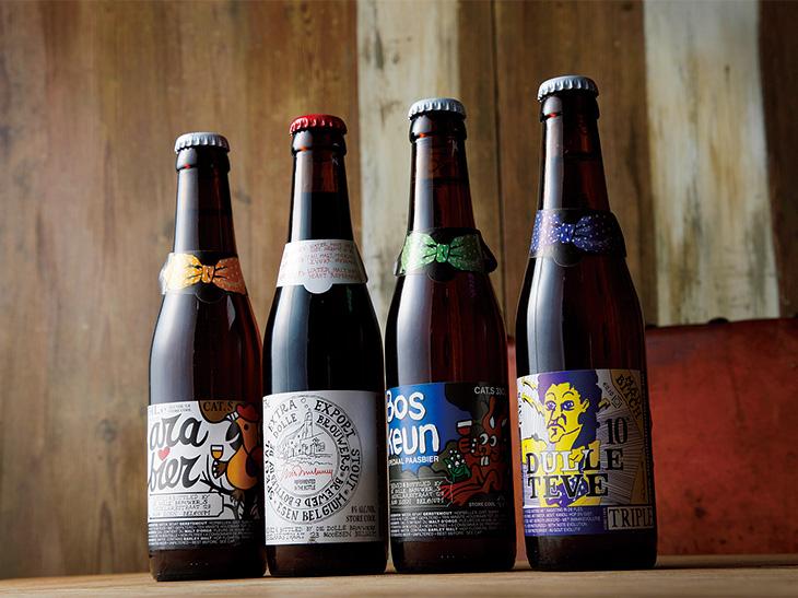 「ボスクン」などデ・ドレ醸造所のボトルビールも豊富に揃う