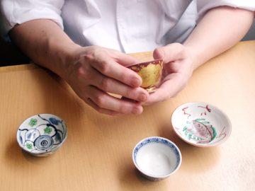 料理人が買い集めた九谷の人気陶芸作家のぐい呑み。【酒器も肴のうち】