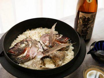 釜浅商店の鉄鍋で炊く!ごはん一粒一粒に旨みが染み込む「鯛めし」レシピ