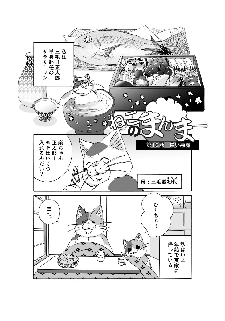 【漫画】ねこのまんま【13】白い悪魔