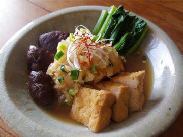 【ベジつまみ】小松菜・厚揚げ・しいたけのみぞれ仕立て|胃腸をいたわる大根の優しい味に感動した話