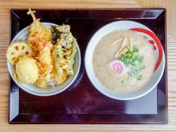 天丼×ラーメンの禁断コラボ! 天ぷらの老舗『ハゲ天』のラーメンとは?