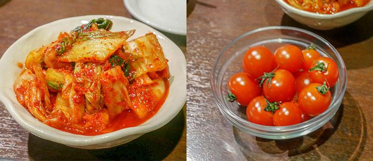 自家製キムチとミニトマト