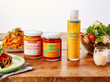お店と同じ味を再現できる!? サラダサンドのドレッシングと人気パスタソース2種が新発売!