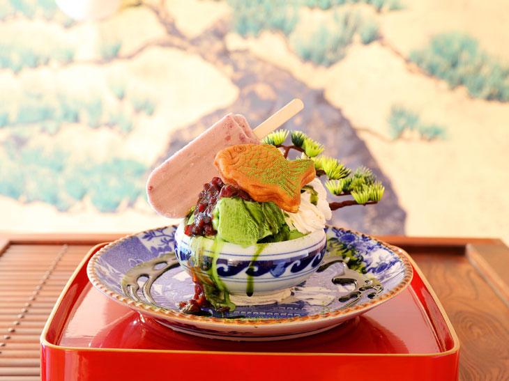 日本の文化をパフェで再現! 『鶴亀樓』の盆栽パフェが美しい