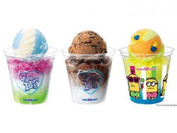 サーティワンの新作「クラッシュアイス」のザクザク氷とアイスクリームのコンビがたまらない!