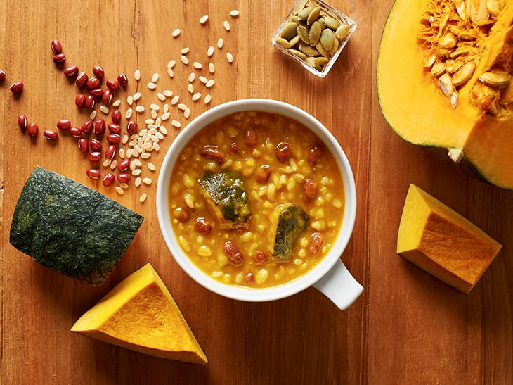 カボチャのゴロッと感と、自然な甘さが、どこかホッとする味わい