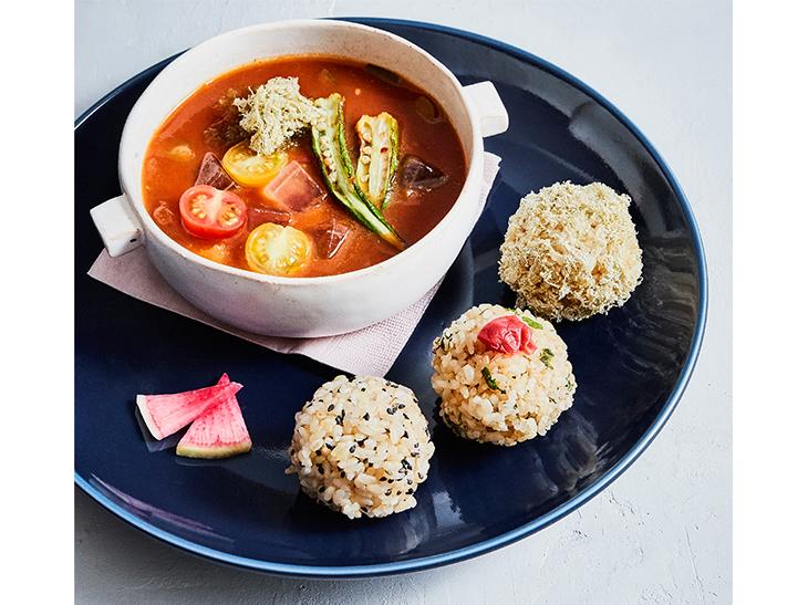「ごろごろ野菜とアロエベラのトマトスープセット」 1,000円
