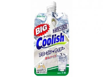 コンビニ限定! BIGサイズの「クーリッシュ」フローズンサイダーの清涼感が夏にピッタリ!