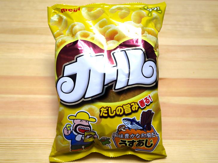 「カール うすあじ」は139円。購入場所はグランドキヨスク京都