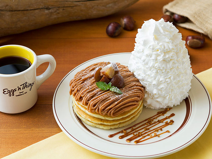 『Eggs'n Things』に、マロンたっぷりの「モンブランパンケーキ」が登場!