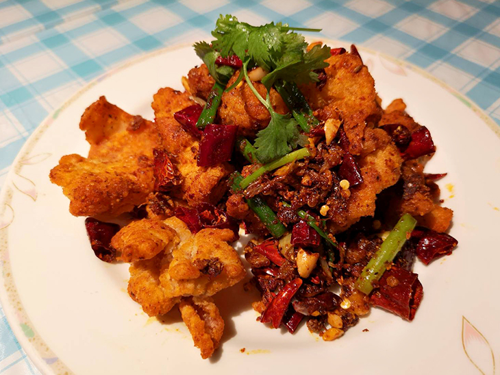 鶏肉と唐辛子炒め