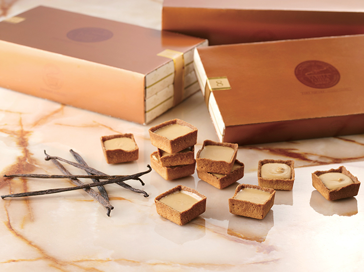 「TART SQUARE‐caramel vanilla‐」(タルトスクエア キャラメルバニラ)8枚/1,080円、16枚/2,160円、24枚/3,240円