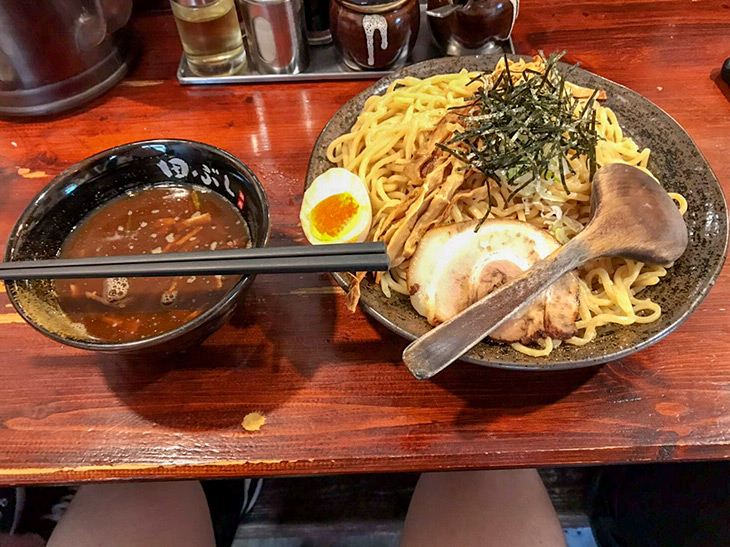 「田ぶしつけ麺」840円、大盛りプラス100円