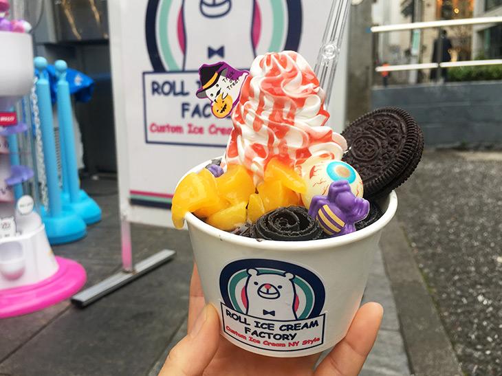 辛口女子大生が、行列店『ロールアイスクリームファクトリー』のハロウィン限定メニューを食べてきた!