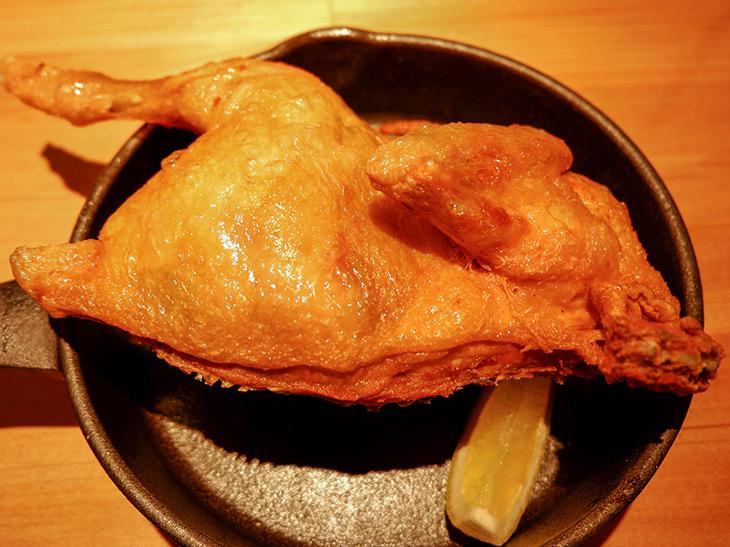2度揚げされた皮が世界遺産級! 至極の鶏半身素揚げを恵比寿『あがれ』で食べてきた