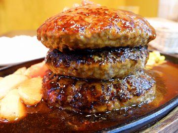総重量1kg! 『三浦のハンバーグ』で肉汁たっぷり「メガハンバーグ」を食べてきた