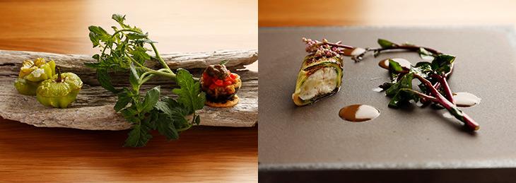 """佐々木シェフによる""""箱根ローカル・ガストロノミー""""は、日々進化中。ディナーのみならず、翌朝の朝食も、佐々木シェフの愛情込められたひと皿を堪能できる"""