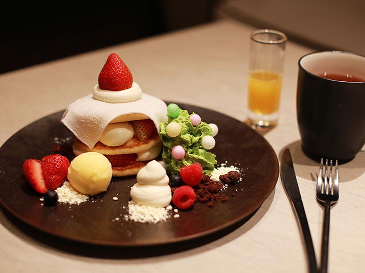 「和のクリスマスパンケーキ」2,000円(税金込、サービス料12%別)
