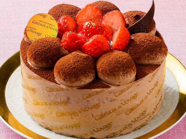 『ガトー・ド・ボワイヤージュ』の東武企画品「いちごのチョコレートケーキ」(4号)2,484円