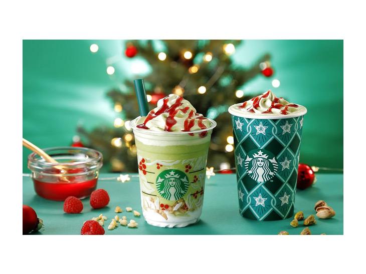 クリスマス感満載! スタバから「ピスタチオ クリスマス ツリー フラペチーノ」が限定発売