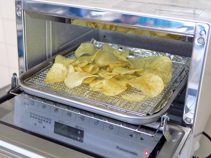 一般的なオーブントースターで試したことはあるが、ちょっと目を離すと一瞬でポテトチップスが焦げてしまう