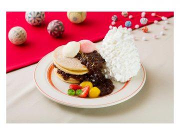 """新年限定の""""和パンケーキ""""! 『エッグスンシングス』のコクのある金箔入りぜんざいがリッチすぎる"""