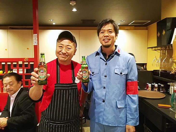 菰田シェフ(左)と中川さん