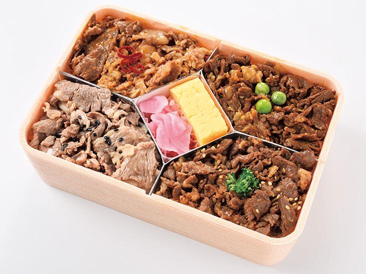 「味くらべ牛肉どまん中」(奥羽本線米澤駅)1,500円(各日1,000食販売予定)