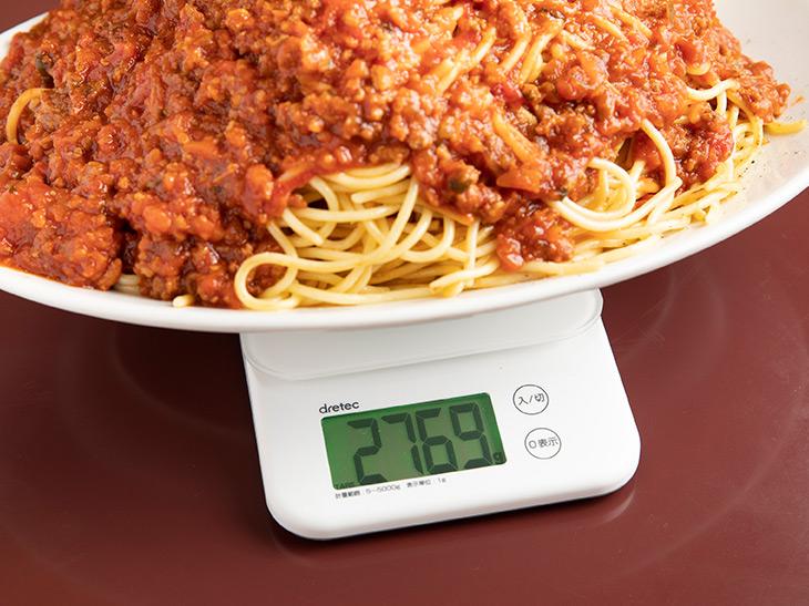 重さは2,769g(器の重さを除く)。公式には2.5kgですが、それよりも多い!