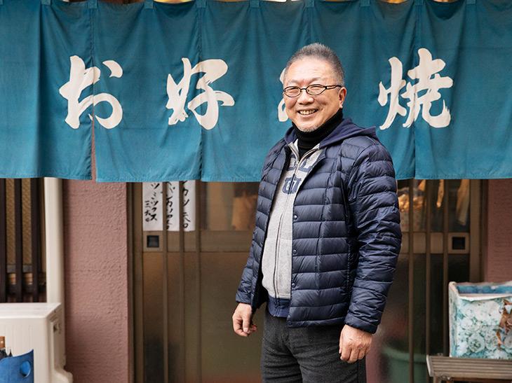 パンカツが食べられる店『やまと』の前で会長の加藤さんと待ち合わせ