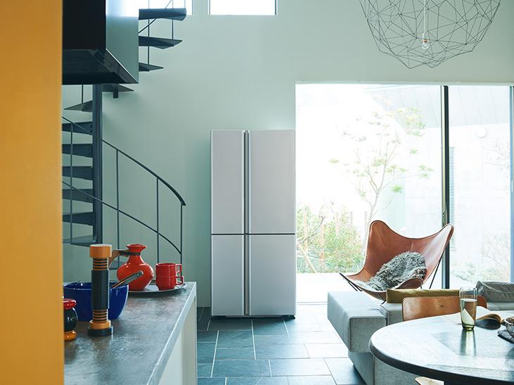 キッチンの外に置いても違和感のない、スタイリッシュなデザイン