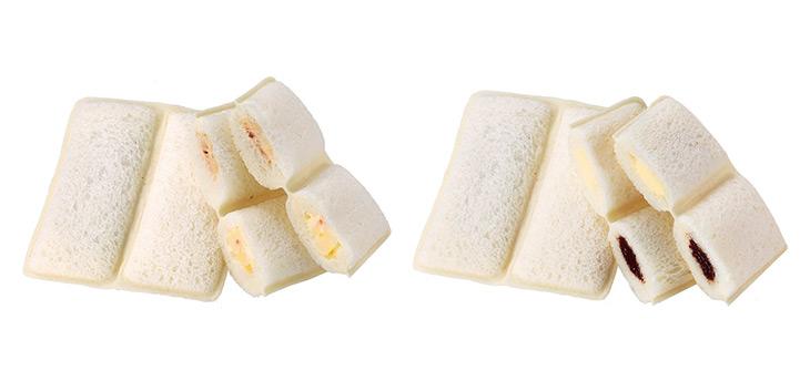 左/「ランチパック(ツナとポテトサラダ)」、右/「ランチパック(ミルククリームと生チョコレートクリーム)」。ともに108円(税込)