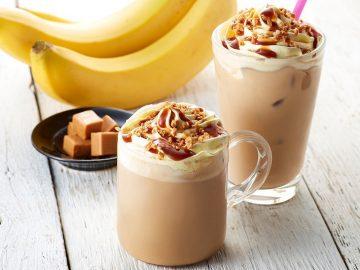 飲まずにはいられない!『タリーズコーヒー』から春限定の「バナナキャラメルクランチラテ」が初登場