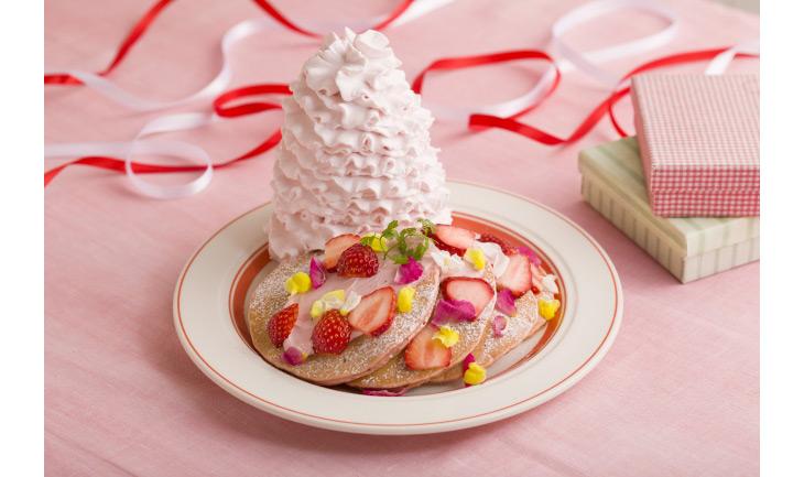 「いちごと桜ホイップのパンケーキ」1,480円