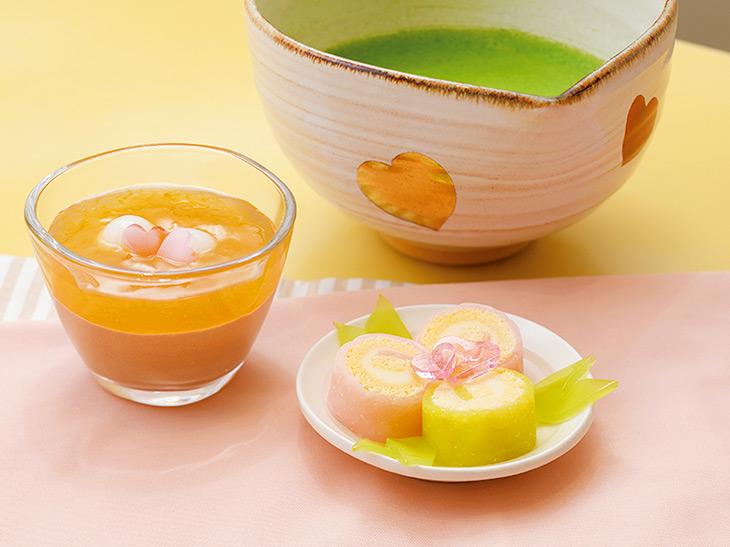 おとめごころ850円(抹茶・煎茶・冷煎茶から1ドリンク付)