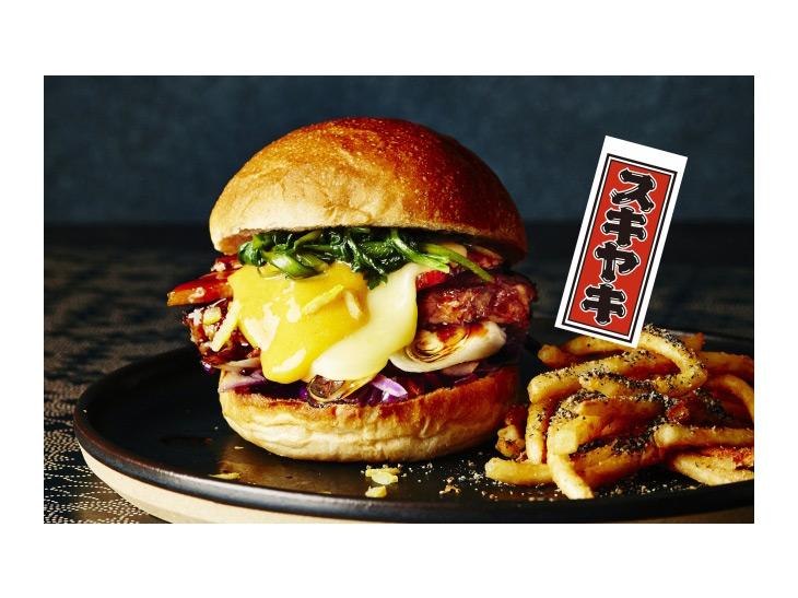"""和食をアメリカンフードで再現! """"すき焼き×ハンバーガー""""が『J.S. BURGERS CAFE』に登場"""