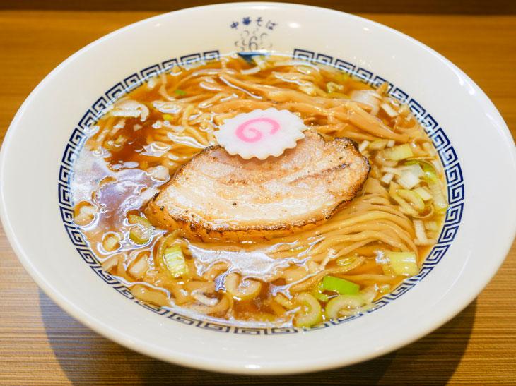 「中華そば(白)」手もみ麺680円
