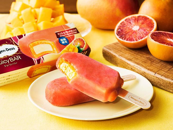 オレンジ&マンゴーの果実感がすごい! ハーゲンダッツ「マンゴー&ブラッドオレンジ」が登場