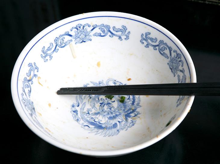 完食! 最後までアツアツだった〜! ガッツリ食べたい時にこれは最強!