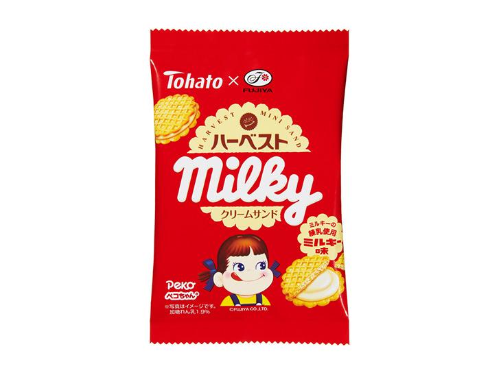 「ハーベストクリームサンド・ミルキー味」100円