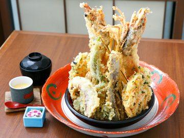 巨大エビ垂直立ち!『江戸東京 寿し常』の1,7kgタワー天丼を食べてみた