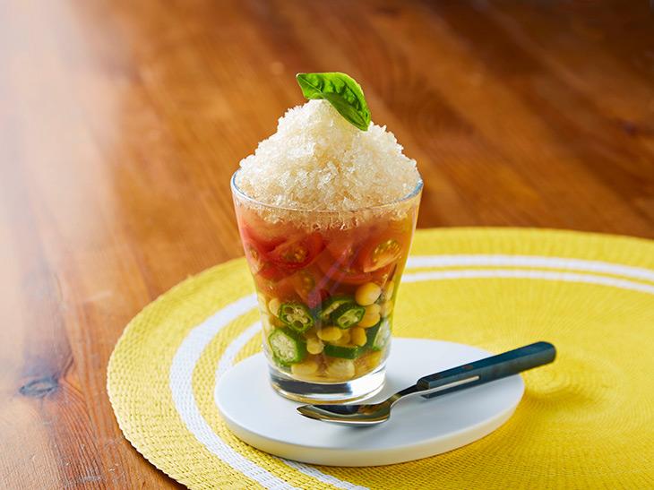 夏野菜スープ 氷のコンソメ仕立て